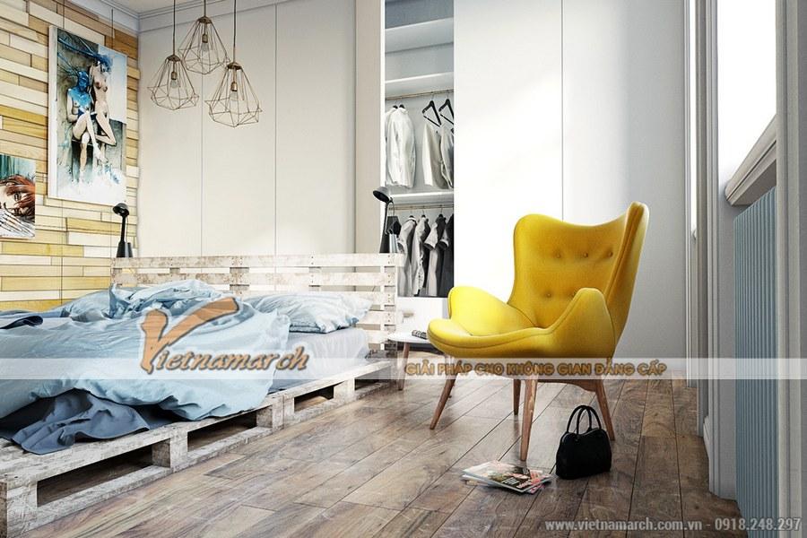 Phòng ngủ được thiết kế ấn tượng, độc đáo nhưng sang trọng và hiện đại