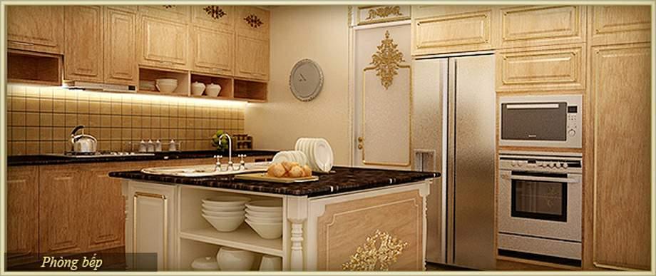 Nội thất phòng bếp - Thiết kế nội thất chung cư D'. LE PONT D' OR Hoàng Cầu - Tân Hoàng Minh