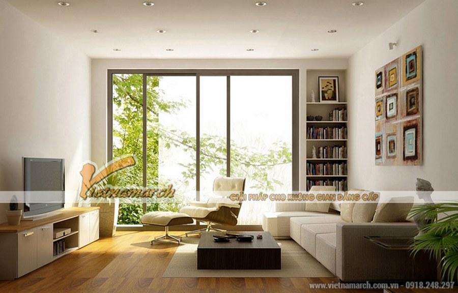 5 mẫu thiết kế nội thất đẹp cho những phòng khách rộng