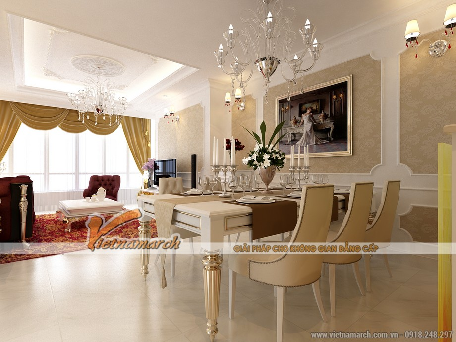 Thiết kế nội thất phòng bếp sang trọng