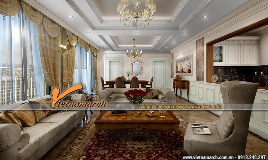 Thiết kế nội thất chung cư D'. Le Roi Soleil phong cách tân cổ điển chuẩn mực
