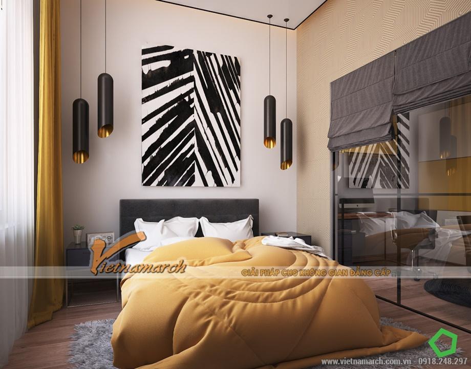 Phòng ngủ ấm áp và có thiết kế không kém phần hiện đại
