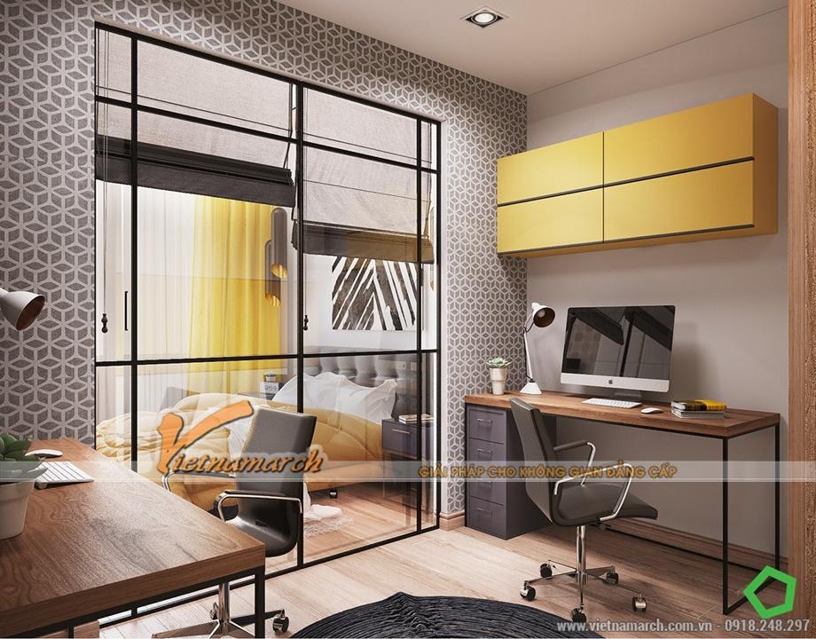 Thiết kế nội thất chung cư Goldmark City - Phòng làm việc hiện đại