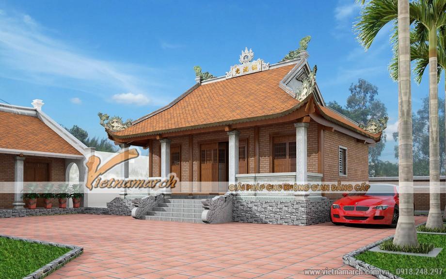 Mẫu nhà thờ họ đẹp tại Trạch Xá - Hải Dương