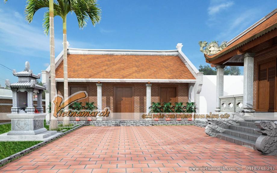 Nhà ngang rộng 5 gian trong mẫu thiết kế nhà thờ họ ở Trạch Xá - Hải Dương