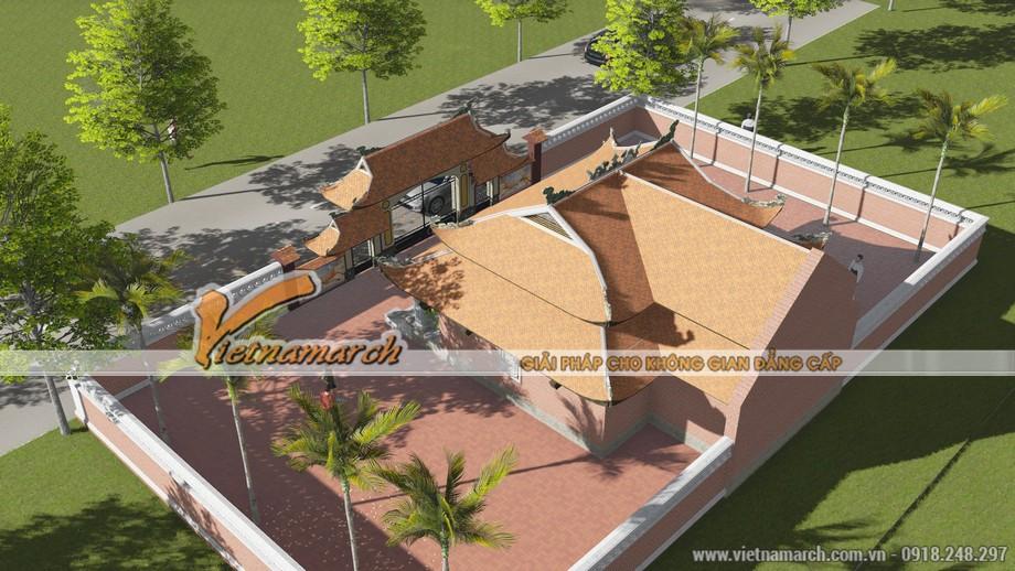 Toàn cảnh mẫu thiết kế nhà thờ họ 8 mái ở Lạng Sơn