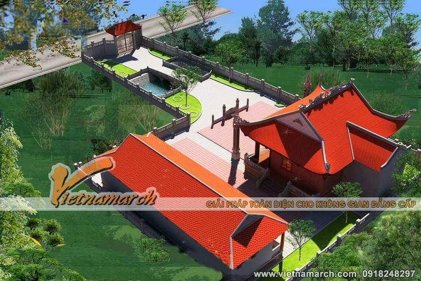 Thiết kế theo lối kiến trúc hoàng cung của nhà thờ họ anh Sang ở Kim Môn - Hải Dương