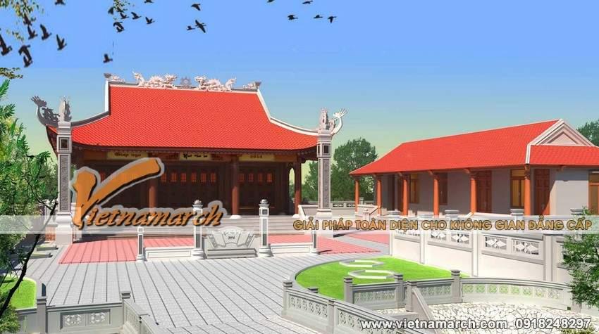 Thiết kế kiến trúc trang trọng, uy nghiêm của nhà thờ họ anh Sang