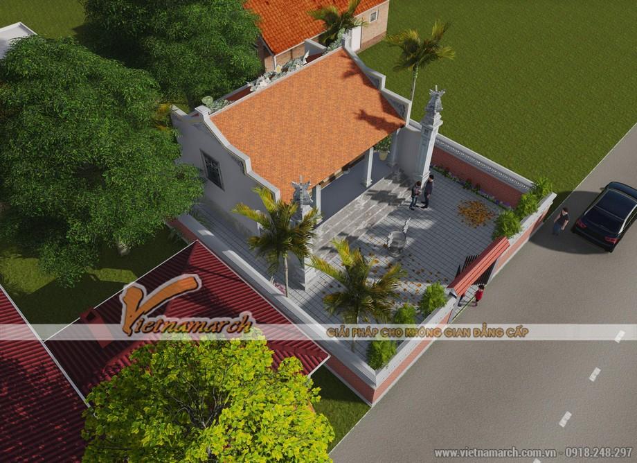 Thiết kế nhà thờ họ 3 gian 2 mái truyền thống ở Hà Nam