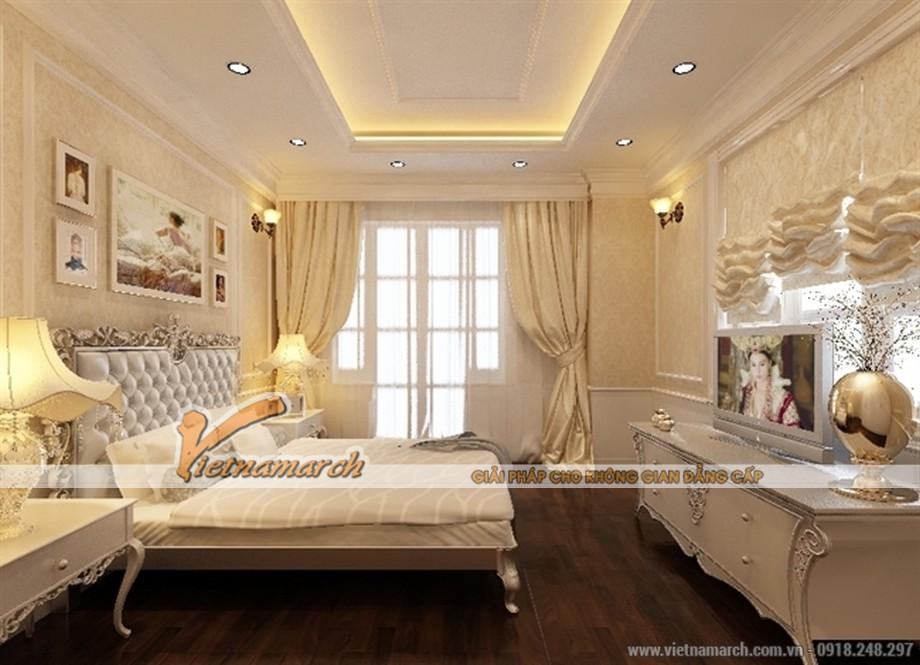 Thiết kế phòng ngủ kiêu sa mang phong cách hoàng gia