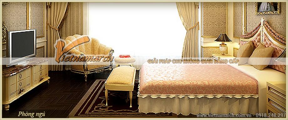 Thiết kế nội thất phòng ngủ mang phong cách hoàng cung sang trọng của quý ông quý bà châu Âu