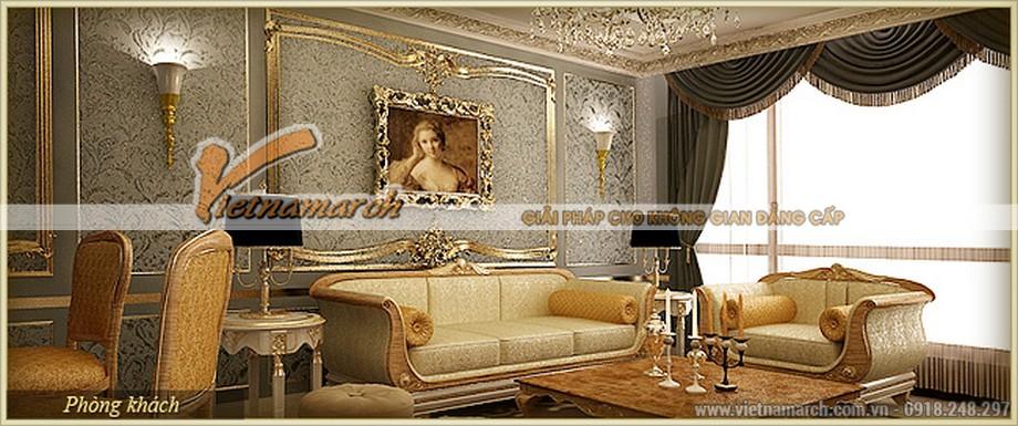 Nội thất cổ điển nhẹ nhàng lịch lãm mà kiêu sa trong căn hộ Athena - D'.Palais de Louis – Tân Hoàng Minh