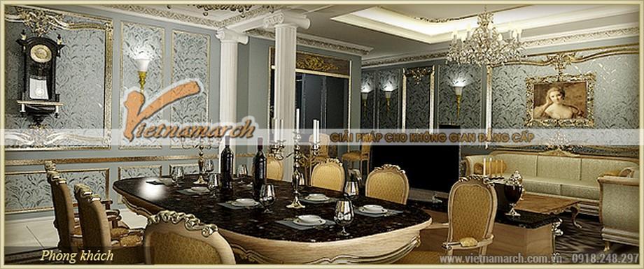 Mang đến một phòng ăn sang trọng trong thiết kế nội thất căn hộ mẫu Athena - D'.Palais de Louis – Tân Hoàng Minh