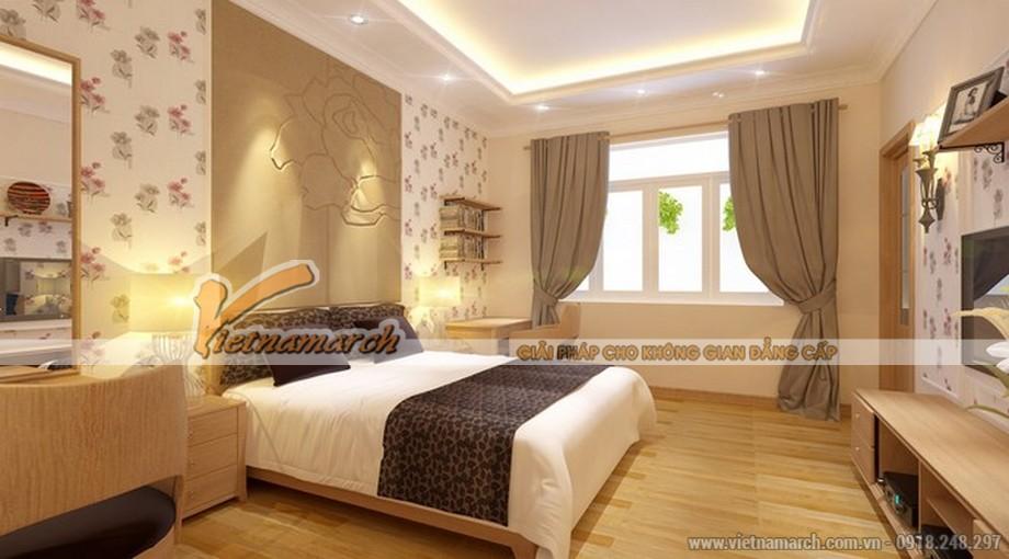 Phòng ngủ ấm cúng thiết kế nội thất chung cư D'. Le Pont D'or – Hoàng cầu