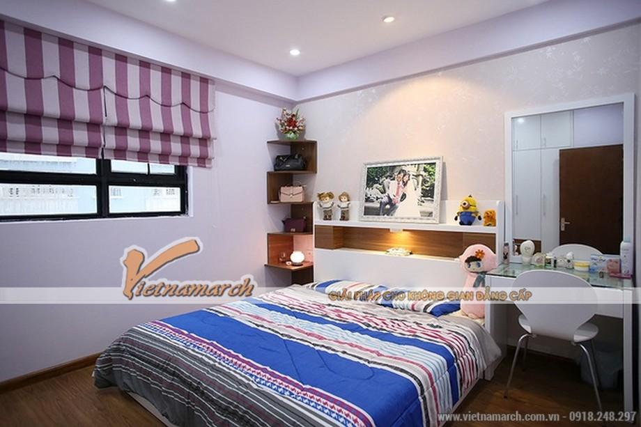 Nét dịu dàng, tươm tất trong thiết kế nội thất tinh xảo của phòng ngủ master