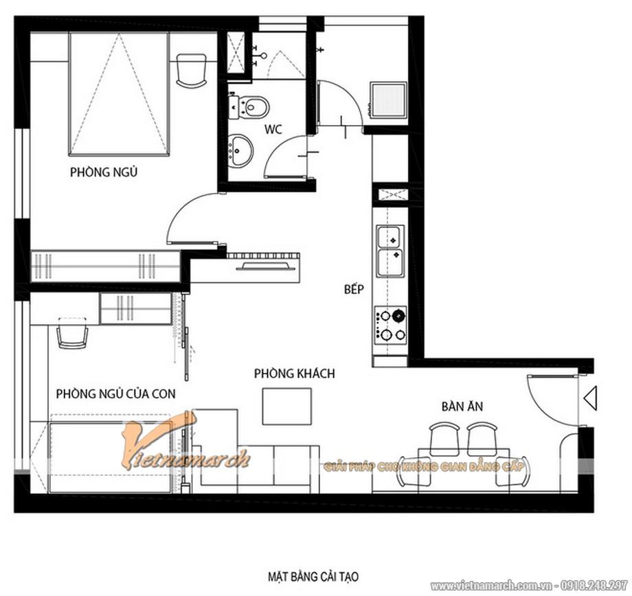 Mặt bằng cải tạo căn hộ của các KTS