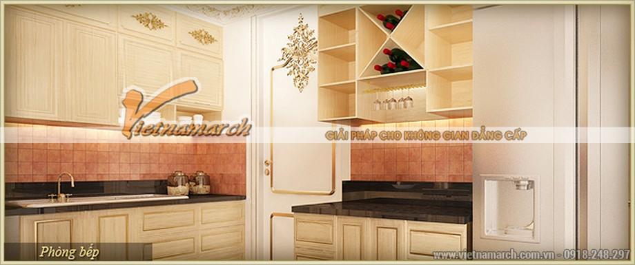 Thiết kế nội thất phòng bếp vừa hoàn hảo vừa thông minh trong căn hộ mẫu - D Cupid chung cư D'.Palais de Louis– Nguyễn Văn Huyên -Tân Hoàng Minh