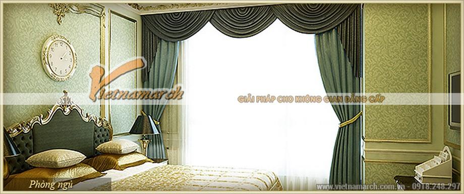 Nội thất phòng ngủ sang chảnh với gam màu hiện đại trong căn hộ mẫu - G Flora chung cư D'.Palais de Louis – Tân Hoàng Minh