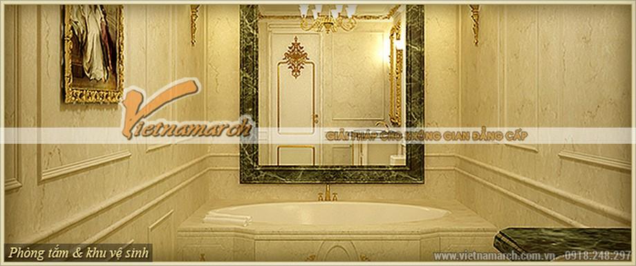 Thiết kế nội thất cổ điển tinh tế trong phòng tắm của căn hộ G -Flora