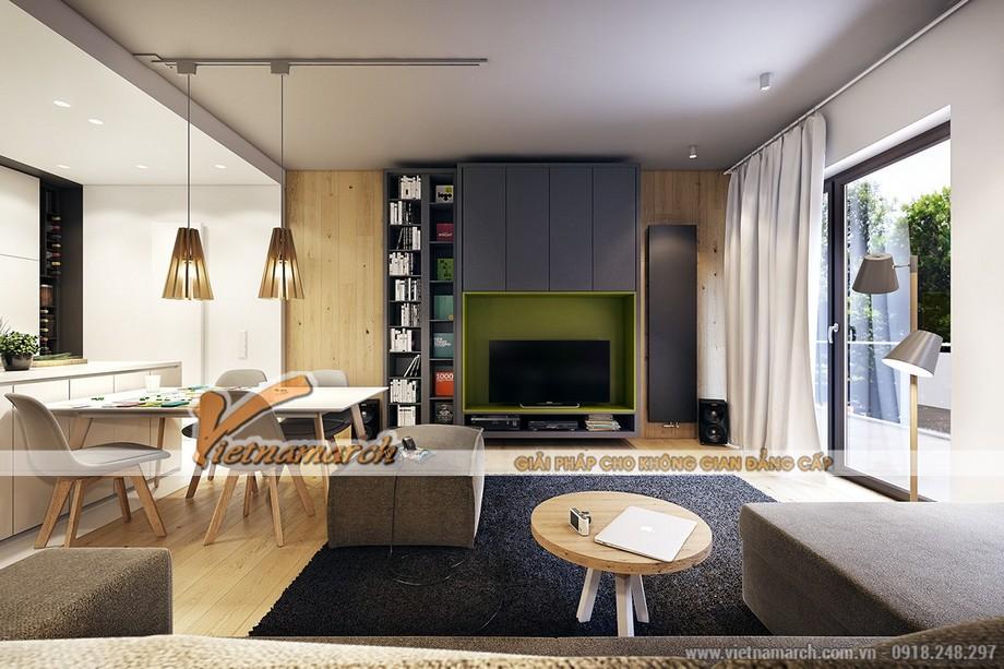 """Thiết kế nội thất """"đẹp và độc"""" trong căn hộ Ruby 03 chung cư Goldmark City"""