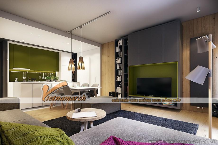 Những nội thất đơn lẻ nhưng kết hợp hoàn hảo trong không gian phòng khách