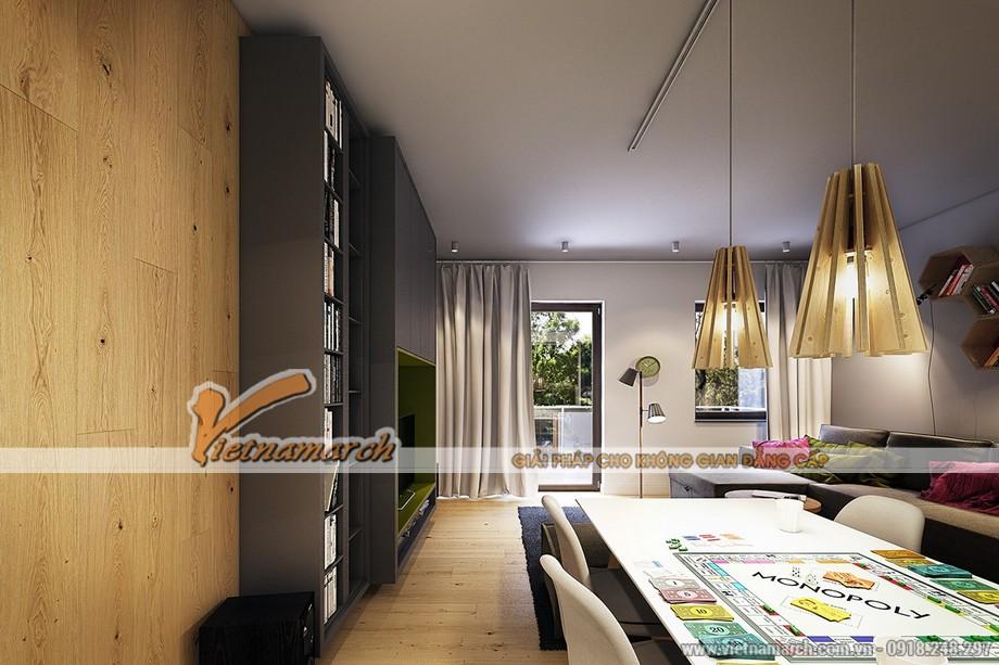 Bản hòa tấu màu sắc trong phòng khách được tạo nên từ những nội thất độc đáo và mới mẻ