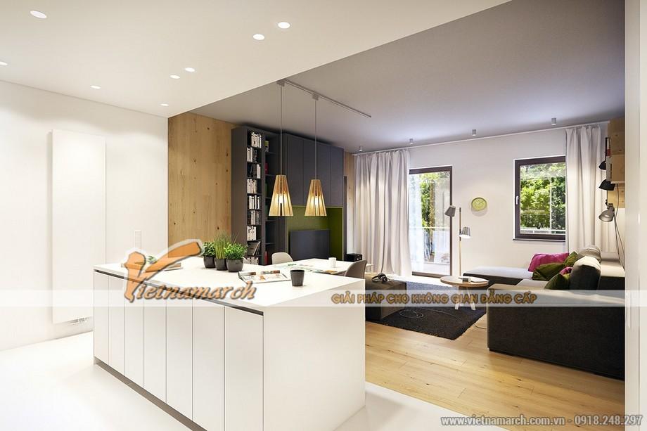 Sự sắp xếp nội thất hoàn hảo trong căn bếp nhỏ hẹp