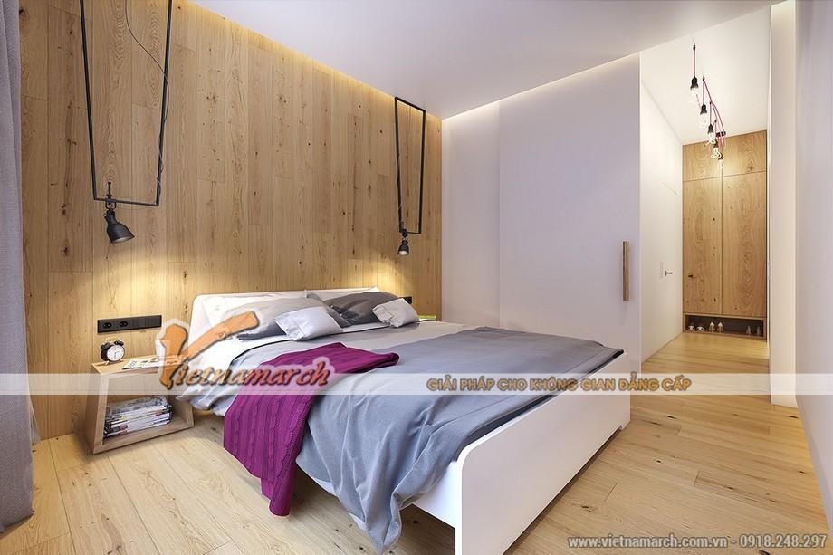 Thiết kế nội thất phòng ngủ đơn sắc nhưng lịch lãm vô cùng