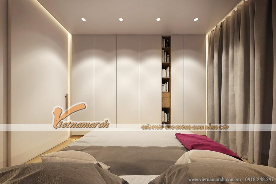 Ánh sáng cũng là điểm nhấn nổi bật giúp phòng ngủ trở nên thoải mái và dễ chịu hơn