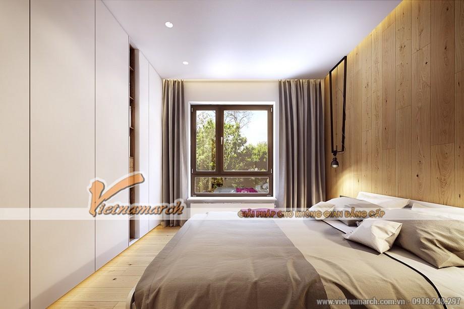 Cửa sổ đa sắc đa hình là điểm độc đáo trong căn phòng thanh lịch này - Nội thất chung cư Goldmark City