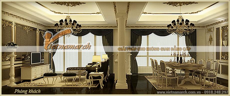 Phòng ăn lộng lẫy đầy hoa mỹ trong căn hộ Hercules - Thiết kế nội thất chung cư D'.Palais de Louis – Nguyễn Văn Huyên