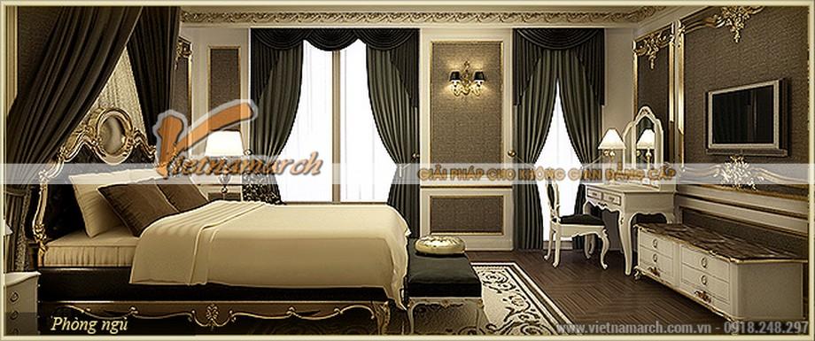 Phòng ngủ phong cách cổ điển sang trọng - Thiết kế nội thất chung cư D'.Palais de Louis – Tân Hoàng Minh