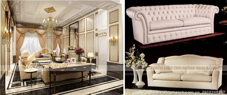 Nội thất sang trọng trong căn hộ penthouse chung cư D'.Palais de Louis – Nguyễn Văn Huyên - Tân Hoàng Minh