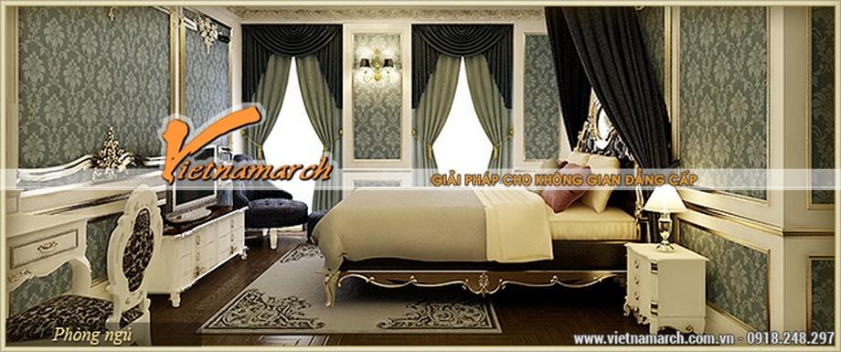 Nội thất phòng ngủ được thiết kế mang phong cách hoàng gia - căn hộ A Venus - chung cư D'.Palais de Louis