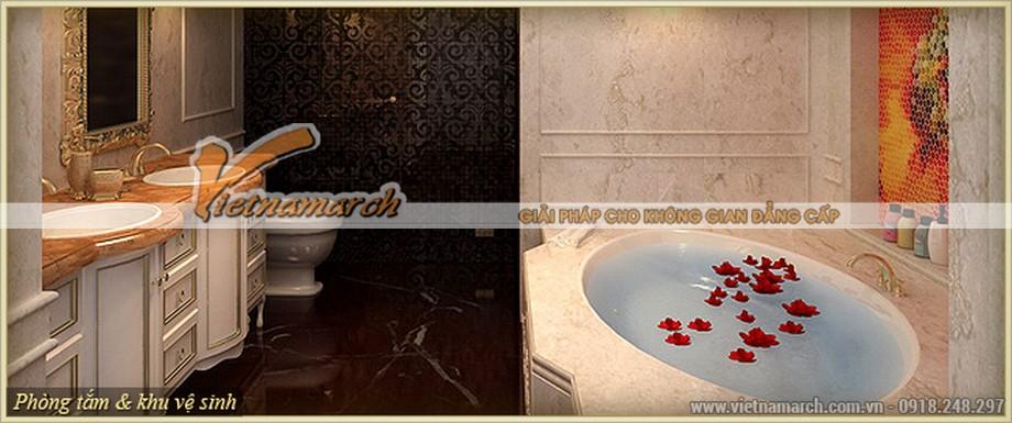 Hoàn mỹ trong thiết kế nội thất cổ điển phòng tắm