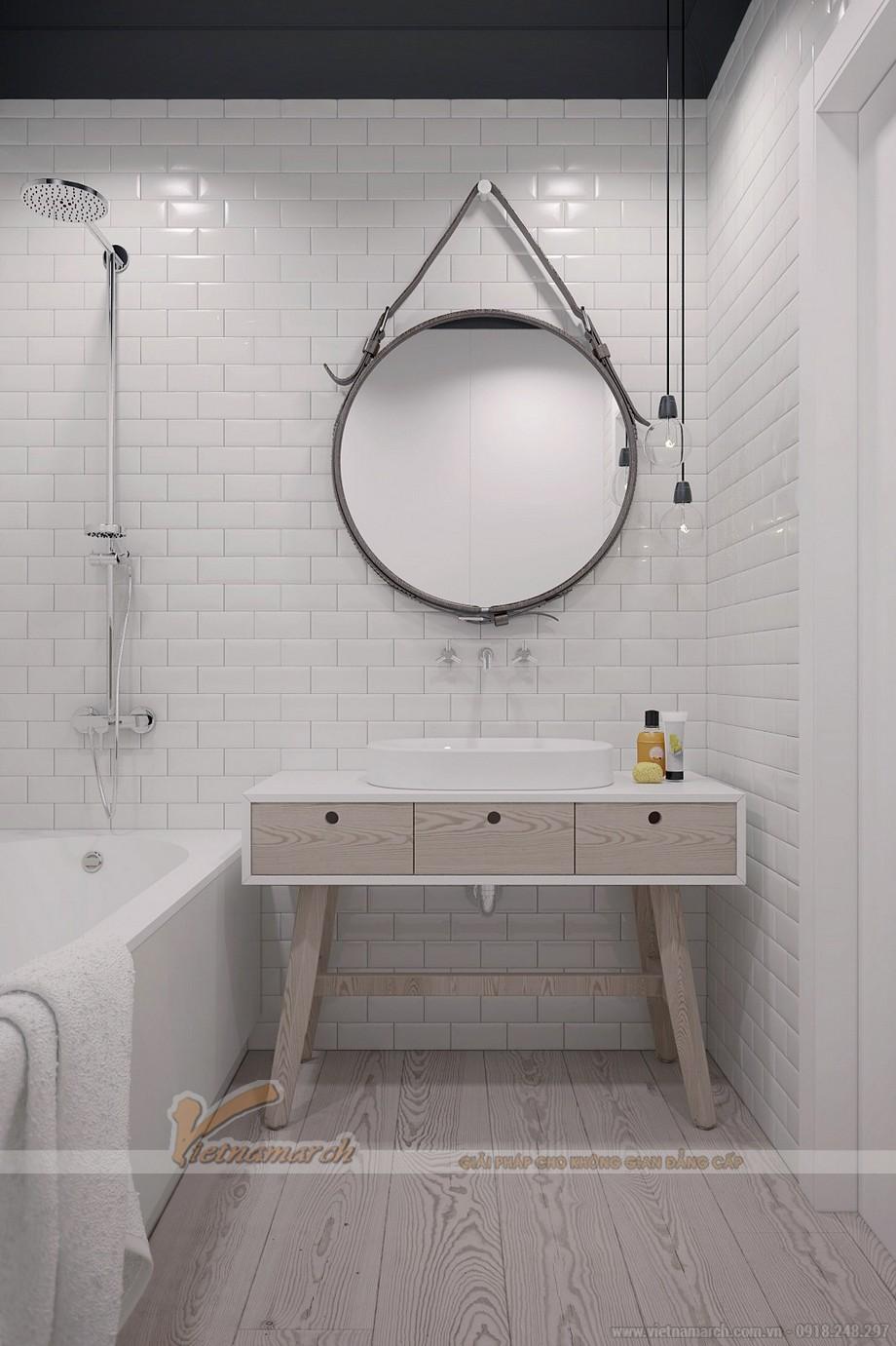 Phòng tắm được bố trí tiện nghi và hiện đại