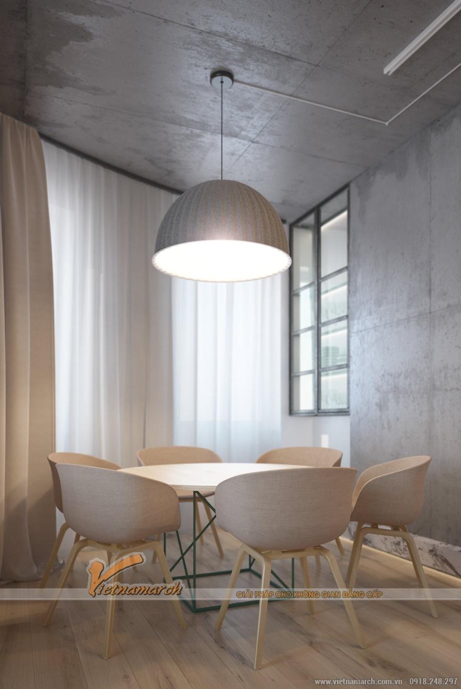 Trần bê tông đặc trưng của căn hộ chung cư Goldmark