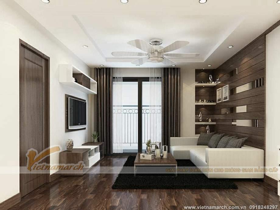 Phòng khách thiết kế không gian chung cùng bếp và nhà ăn mang đến không gian thoáng đãng, thoải mái và ấm cúng