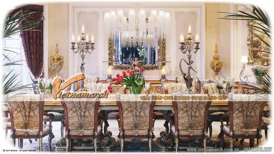 Phòng ăn mang phong cách hoàng gia - Thiết kế nội thất biệt thự sang trọng