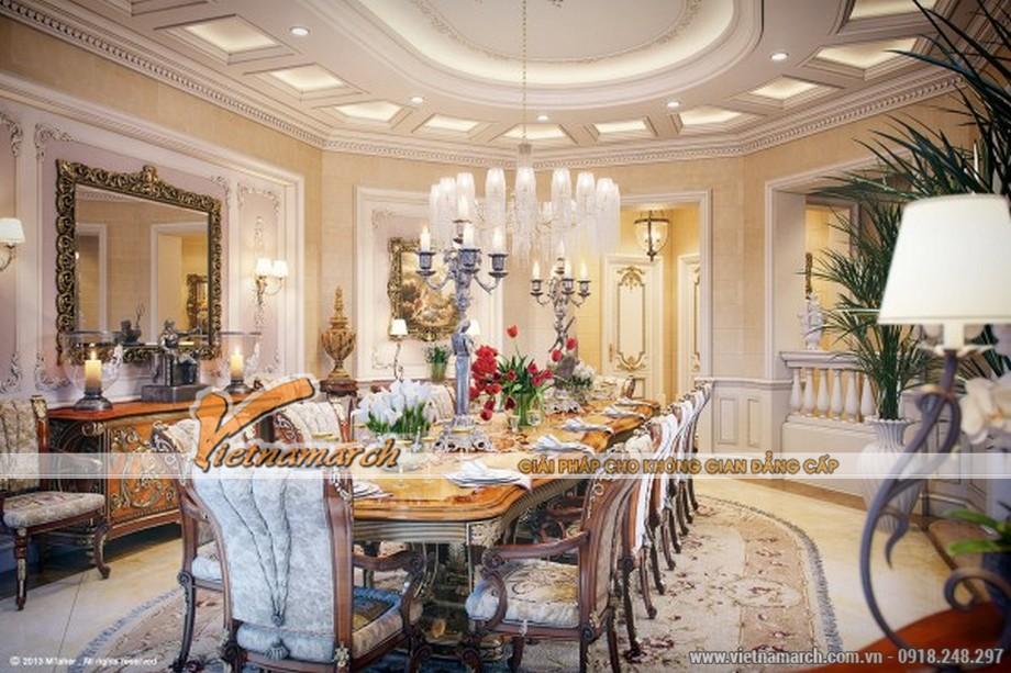 Một phòng ăn mang đậm phong cách của hoàng gia