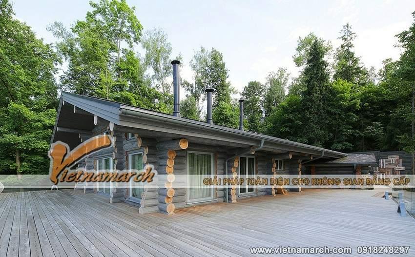 Ngôi nhà với 90% là gỗ độc đáo ở Moscow, Nga