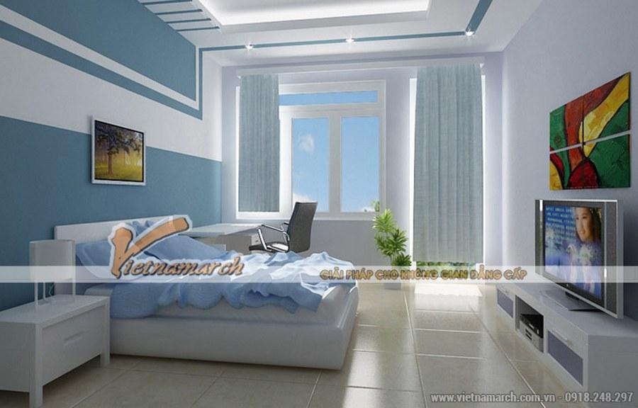 Màu xanh tươi trẻ, tràn đầy sức sống - thiết kế nội thất phòng ngủ phong cách hiện đại