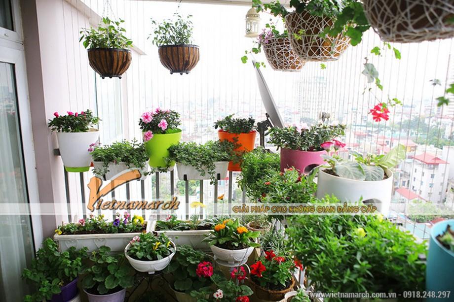 Thiết kế ban công đẹp cho căn hộ chung cư D'. LE PONT D' OR Hoàng Cầu - Tân Hoàng Minh