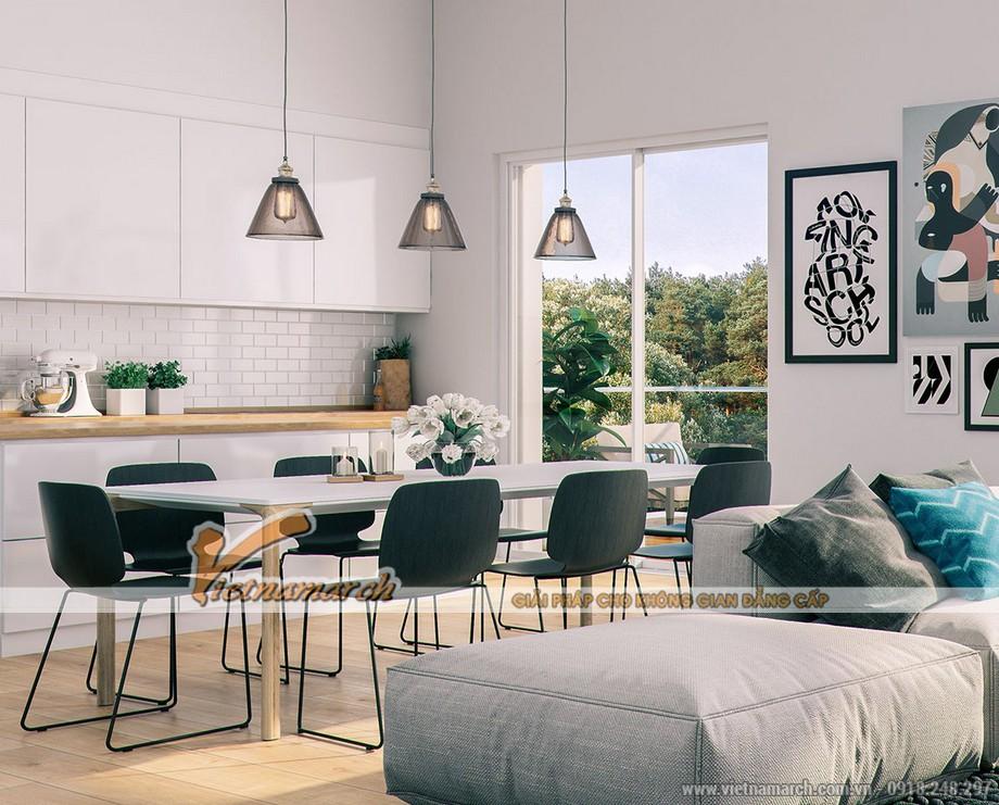 Thiết kế nội thất phòng ăn hữu tình và thơ mộng