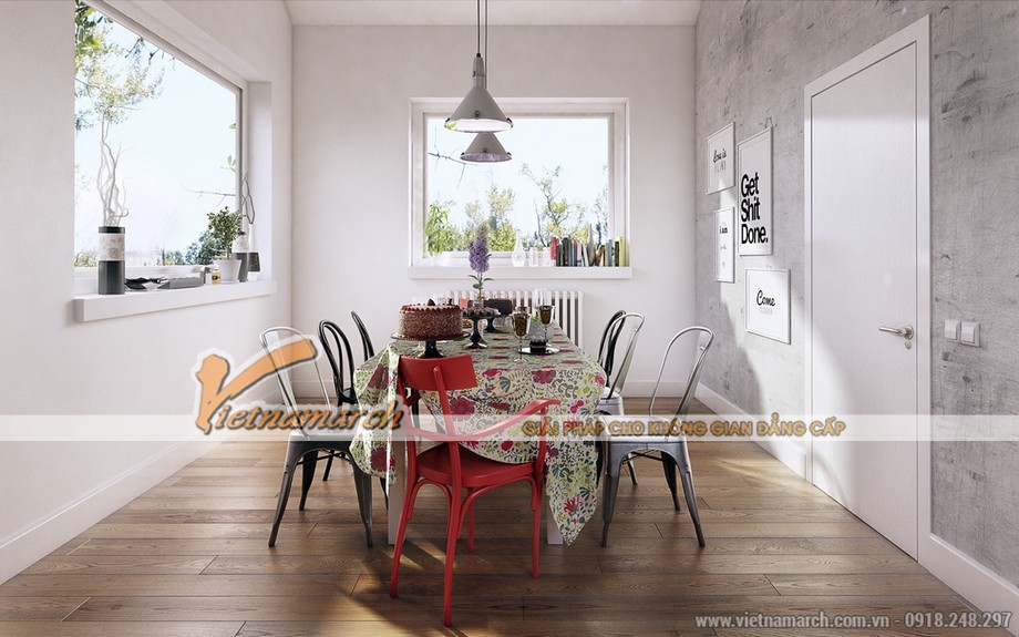 Thiết kế phòng ăn theo cảm hứng từ bộ siêu tập ghế Eames