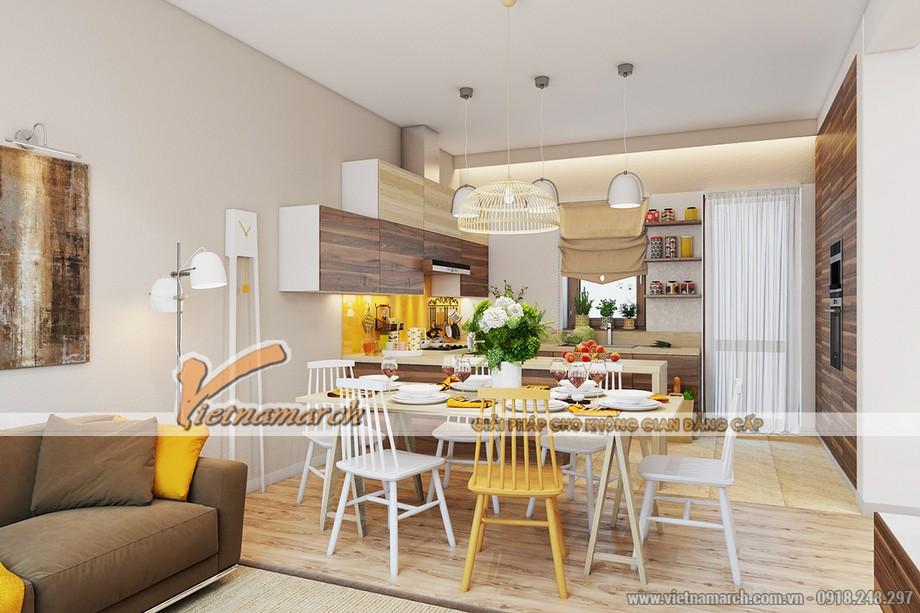 Thiết kế phòng ăn với những gam màu tươi sáng