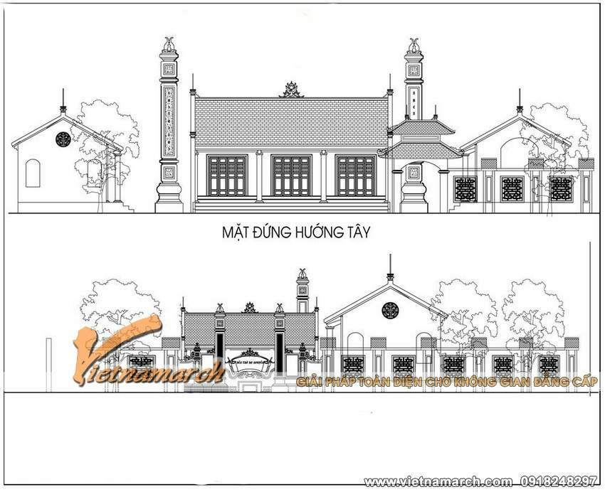 Bản thiết kế nhà thờ họ mặt bằng với chữ Quốc nhà ông Thắng - Uông Bí- Quảng Ninh 02