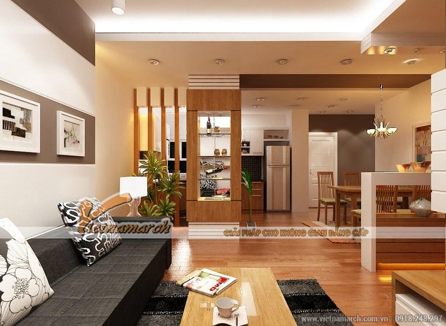 Sử dụng chất liệu gỗ mang đến không gian thoáng, rộng cho căn phòng