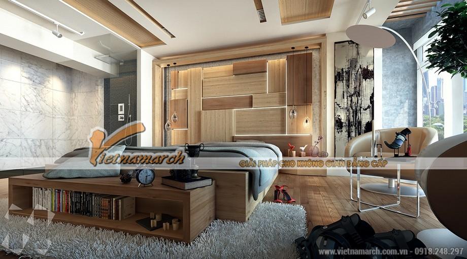 Tất cả nội thất đều được làm bằng gỗ đem lại sự tự nhiên trong căn phòng
