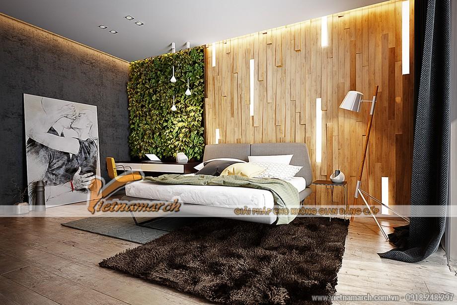 Thiết kế nội thất chủ đề sinh thái mang đến không gian mát mẻ cho phòng ngủ